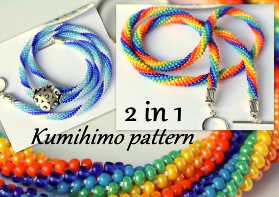 Kumihimo Pattern And Tutorial Pdf Loading Instruction Stripes Etsy