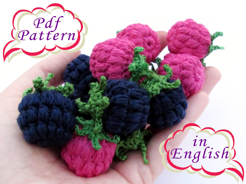 Pattern Pdf In English Raspberry Crochet Amigurumi Raspberry Etsy