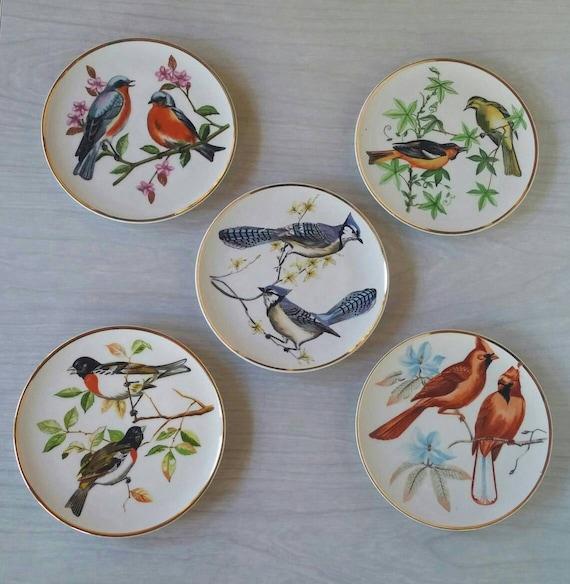 Norcrest Japanese Bird Plate Vintage