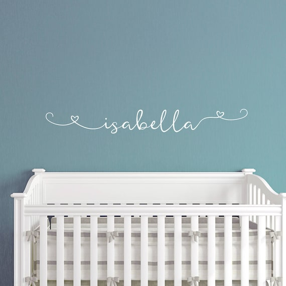 First Name Decal c348 Custom Name Decal for Nursery Any Word Decal Fancy Name Decal Name Decal Name Decal Name Wall Decal