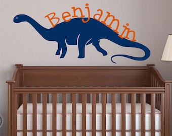 Large Dinosaur Decal Brontosaurus Name Wall Decal Kids Teen and Nursery Wall Decor Dinosaur DECAL ~ Large Dinosaur Wall Decals