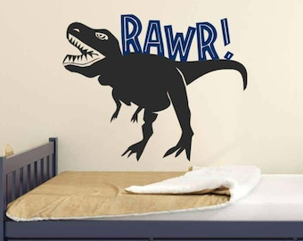 Large Dinosaur Decal T-Rex Rawr Wall Decal Kids Teen and Nursery Wall Decor Dinosaur DECAL ~ Large TREX Dinosaur Wall Decal
