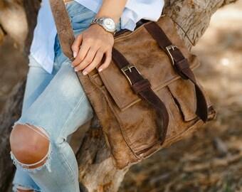Brown Leather Bag / Leather Messenger Bag / Leather tote / Men messenger bag / Shoulder Bag / Briefcase / Cross Body Bag / Satchel / iPad