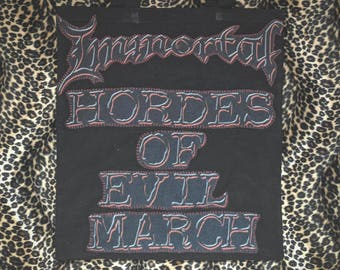 "Upcycled ""Immortal - Hordes of Evil March"" Tote Bag"