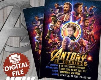 Avengers Birthday Invitation, Avengers Infinity War birthday Invitation, Infinity War Invitation, Avengers Printables, superhero invitation