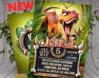 Dinosaur Birthday Invitation Invite Jurassic World Party Dino Printable