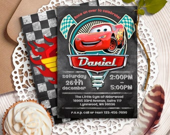 Disney Cars Birthday Invitation Party Lightning McQueen Printables Race