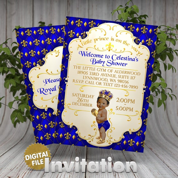 Royal Prince Baby Shower Invitation Little Prince Baby Shower Etsy