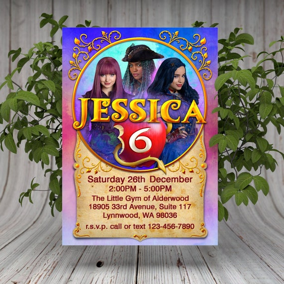 Descendants 2 Printable Birthday Invitation