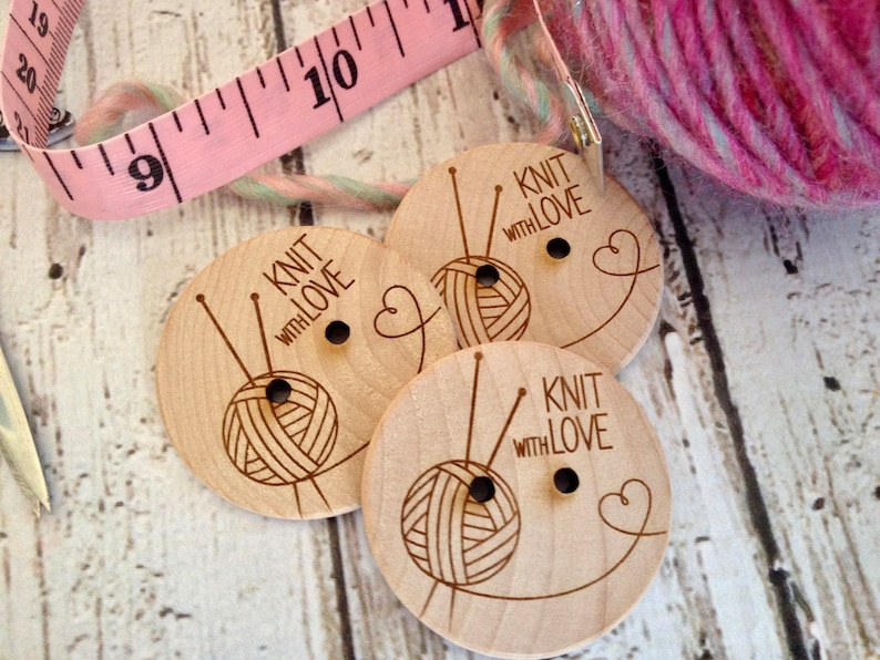 Custom button design  personalized wood button engraved image 0