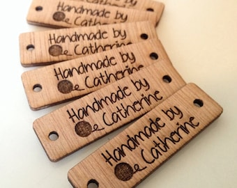 Custom tag, design, tag, wood custom tag, personalized, wood tag, engraved tag, button, knitting button, craft button, business tag,