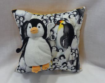 These Pillow Pal/Character Pocket Pillows make unique gift for all ages.  Penquin, Dinosaur, Pig design pocket for a small gift, toothfairy.