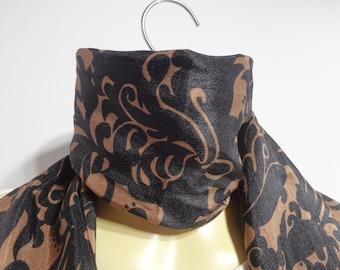 Scarf Fashion Scarfs add a splash of color to an outfit worn at the neckline, headband, turban, sash around waist: Brown, Zebra.