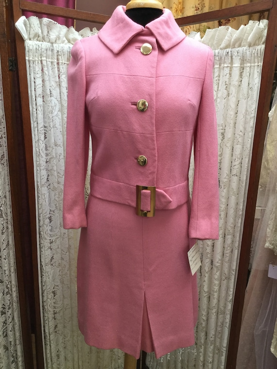 Vintage, pink suit,  women's suit, fifties suit, s