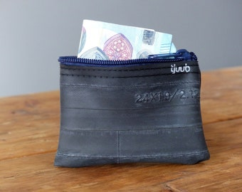 Zipper Coin Purse - Headphone Pouch - BIcycle coin purse - Small Money Bag - Credit Card Holder - Inner Tube Wallet