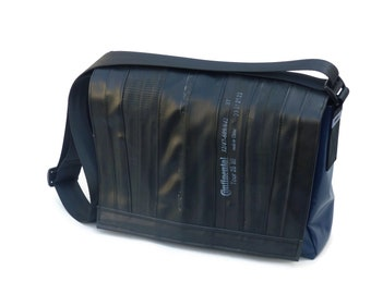 Bicycle hose bag - large shoulder bag with car strap, truck tarpaulin, bicycle hose (recycling bag, bicycle hose bag) Bikebag L