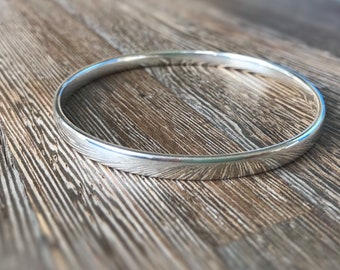 Classic silver bangle, solid silver bangle, Mother's Day gift, handmade silver bangle, gift for wife, timeless classic bangle, gift for mom