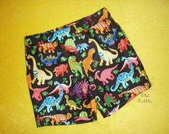 Dinosaur shorts - dino shorts - boys shorts - girls clothing - girls clothing - birthday outfit - handmade outfit - 6m to 12yrs