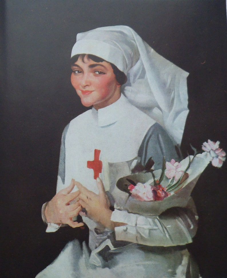 photo regarding Printable Pictures of George Washington identified as Nurse Print - George Washington Lambert Typical Artwork Print - The Smiling Sister - Nursing Print - Purple Cross Nurse - Helen Lawson