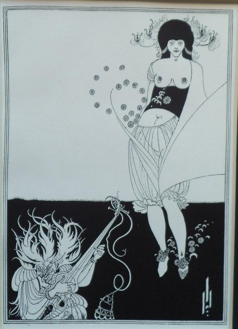 279da74468f Vintage Aubrey Beardsley Print The Stomach Dance from Salome