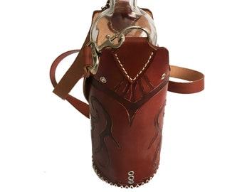 Water Bottle Holder/ wine Bottle holder/ holder bag / Leather case / wine bag
