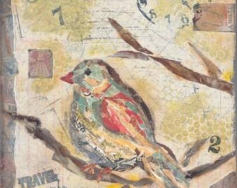 BIRD PRINT - 12x12 or 16X16  Print of Original