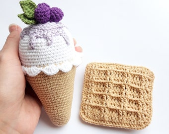 535244dcfd3 Crochet Viennese waffle and cream