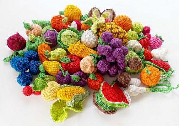 45 Stück Häkeln Obst Und Gemüse Setpretend Play Küche Etsy