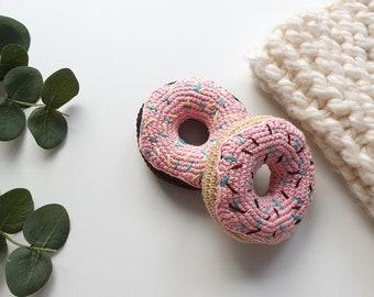 Crochet donuts, Baby Gift , Kids Play Food, Donut, Crochet Food, Play Food, Pretend Play, Teething Toy, Room Decor, Play Food