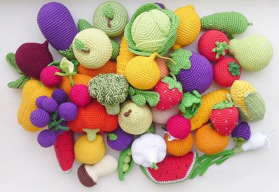 Häkeln Essen Set 20 Stück Häkeln Gemüse Und Obst Etsy