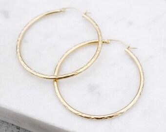 c401b0cb0b135 10k gold hoops | Etsy