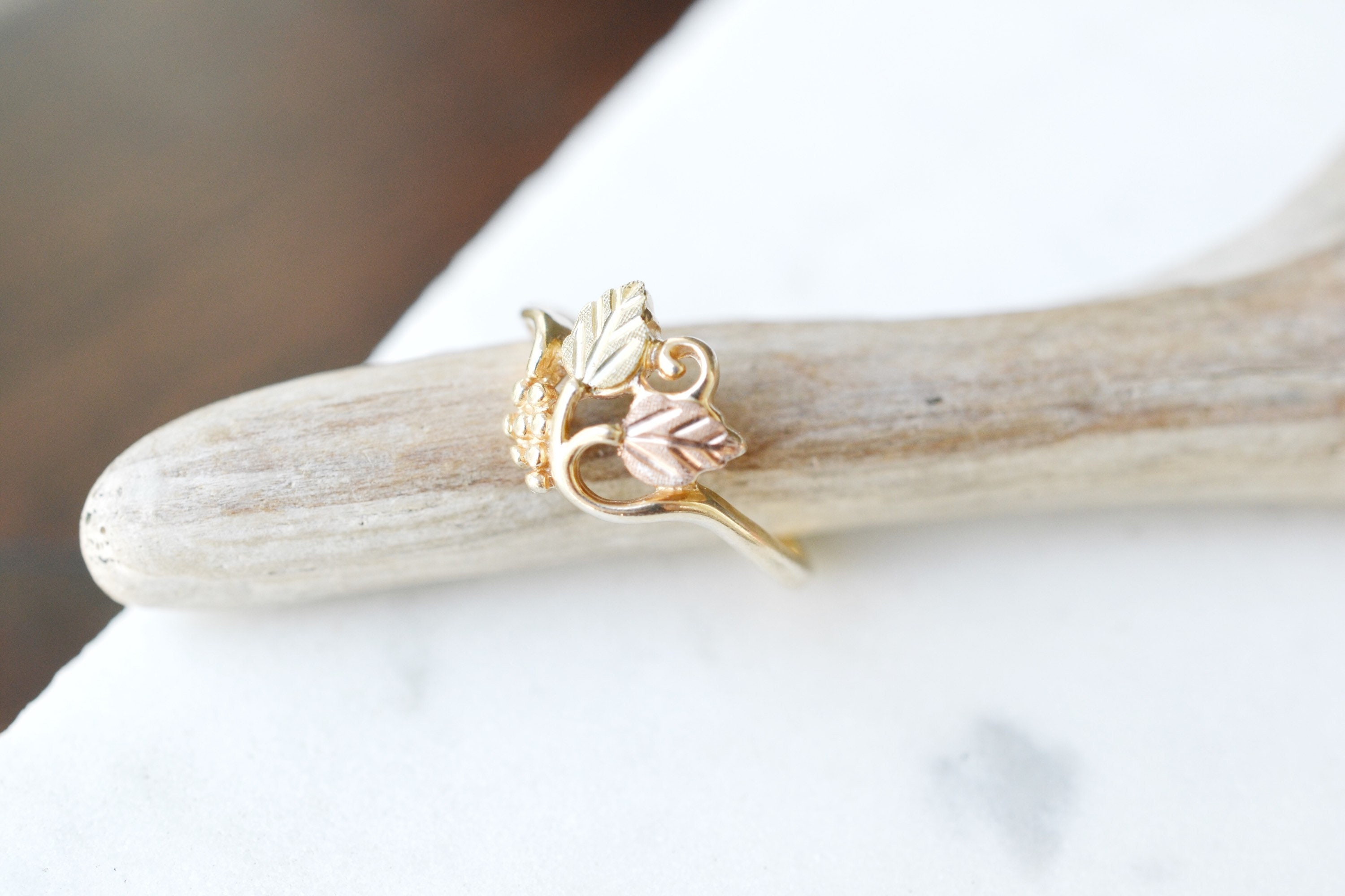 10k Colored Gold Grapering Yellow Gold Gape Ring Yellow Gold Etsy