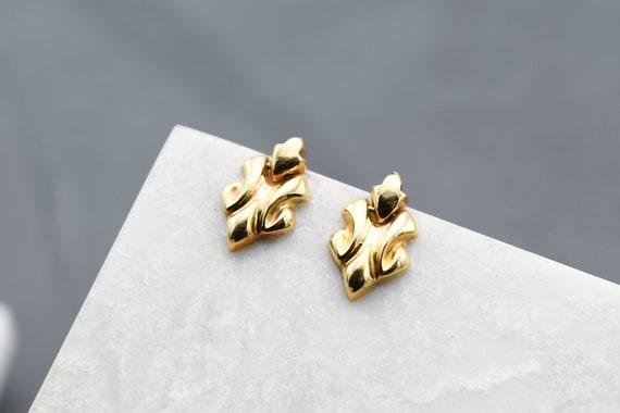 18k Yellow Gold Dangle Earrings, 18k Yellow Gold E