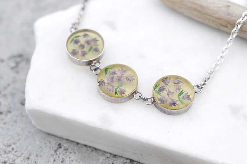 16 Necklaces & Pendants Sterling Silver Pressed Flower Round Pendant Necklace Lockets