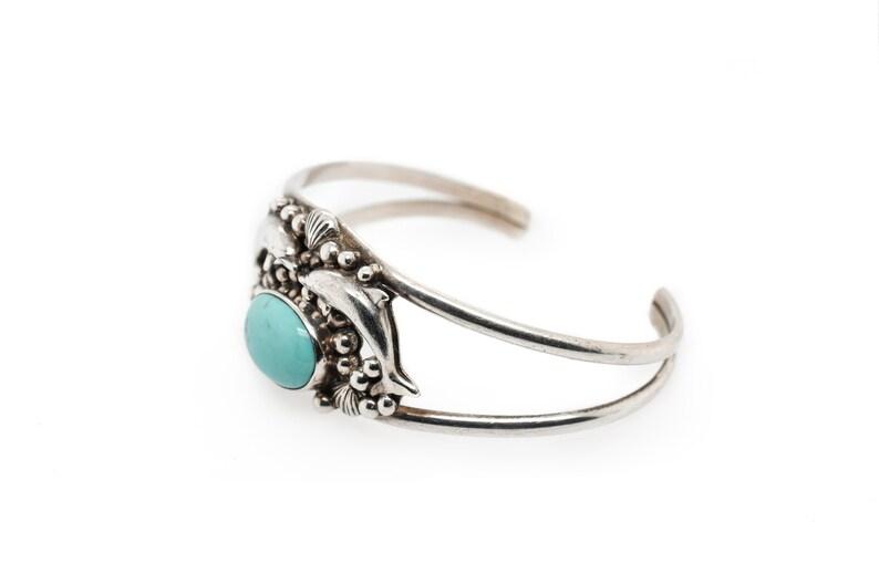 Felley Bracelet RARE Sterling Carol Felley Turquoise Dolphin Cuff Bracelet Dolphin Bracelet Silver Dolphin Cuff Carol Felley Jewelry