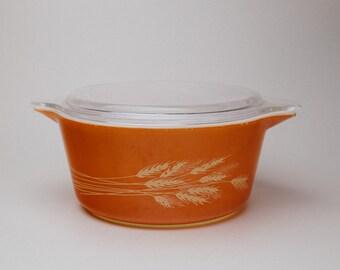 Pyrex Autumn Harvest Orange 1.5L Casserole with Lid (474-B)