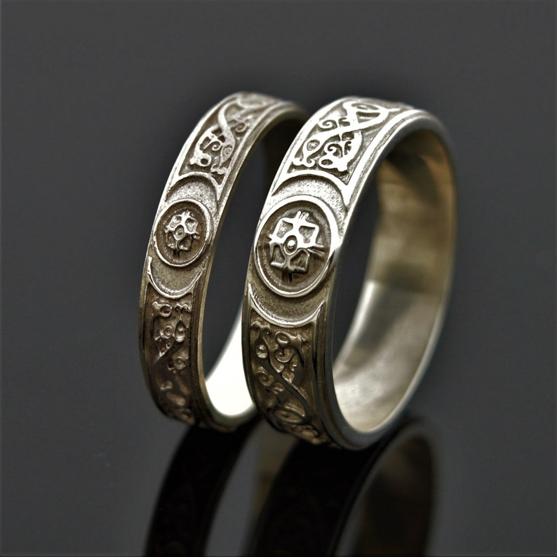 Celtic Warrior Ardagh Chalice Designed and Made in lreland Celtic Warrior Wedding Ring Unique wedding Ring Celtic Warrior Ring