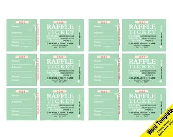 Ticket Template Etsy - Custom raffle ticket template