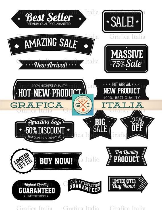 Label Clipart Set Sticker Clip Art Frame Banner