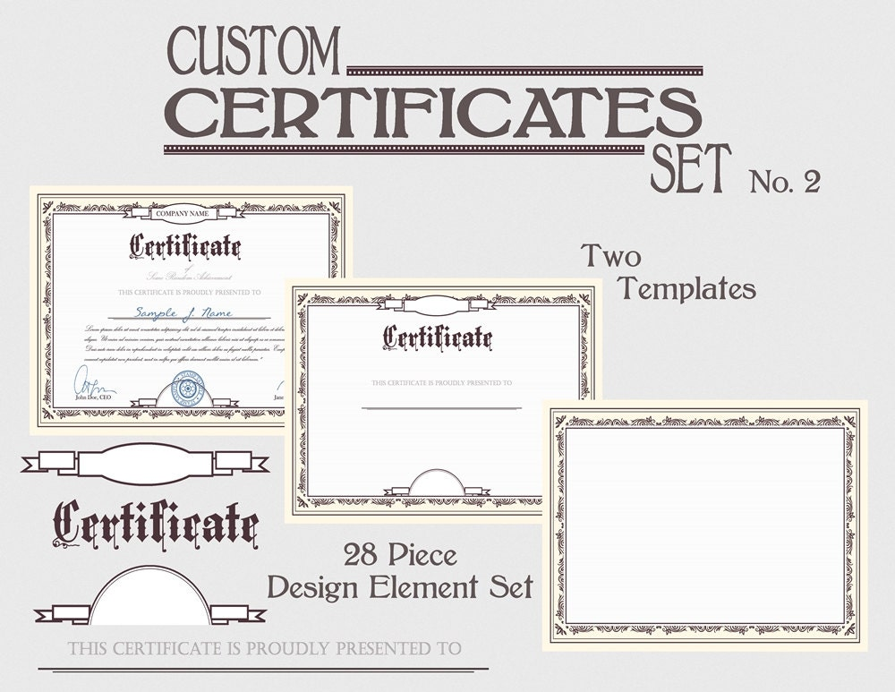 Certificado plantilla Premio bricolaje Set certificación Diploma ...