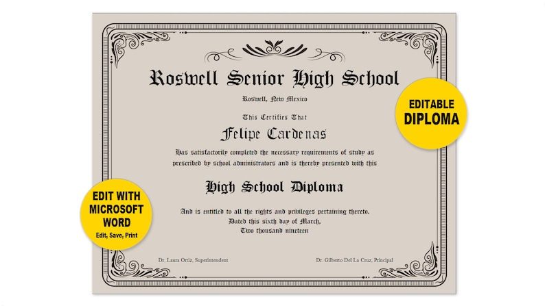 photograph relating to Printable Diplomas referred to as Degree, Editable Phrase Template, Printable, Prompt Down load, Your self EDIT Phrase Template, Do-it-yourself DIPLOMAS Certification Template, Awards Appreciation