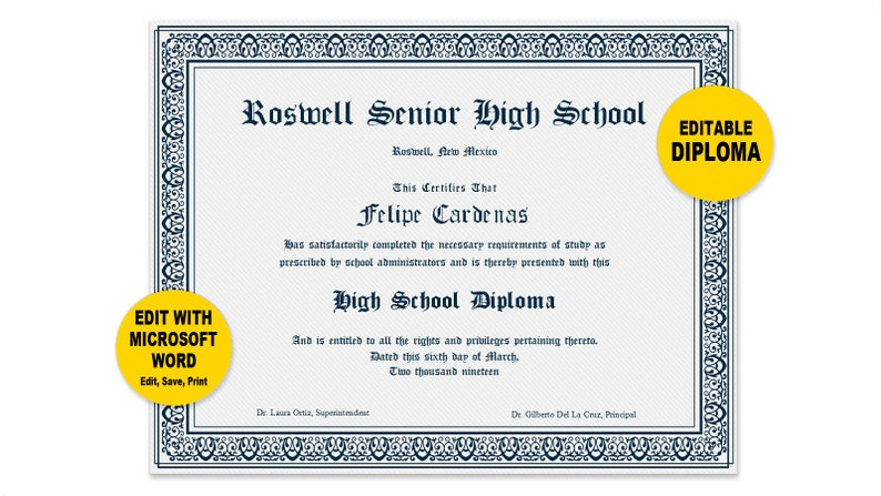 photo about Printable Diplomas named Degree, Editable Term Template, Printable, Immediate Down load, By yourself EDIT Phrase Template, Do it yourself DIPLOMAS Certification Template, Awards Appreciation