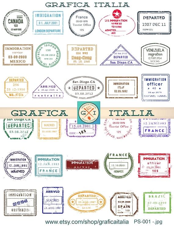 Resource image regarding printable passport stamps for kids