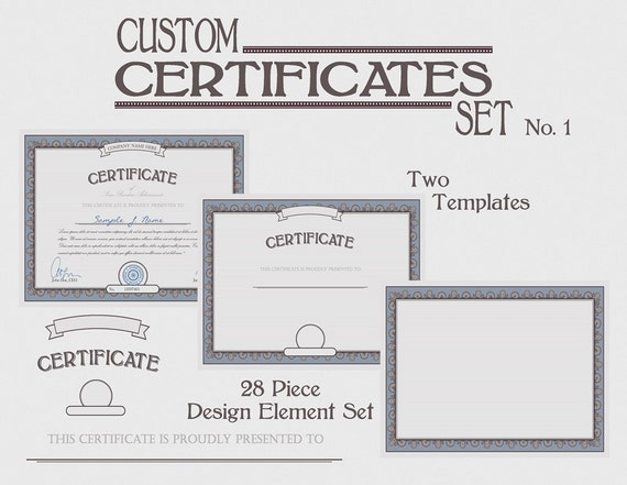 certificate template set instant download customize etsy