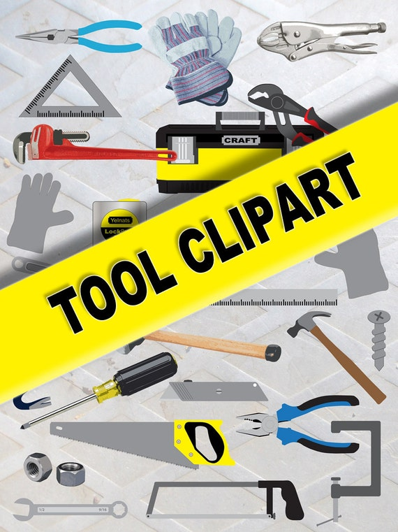 Tool Clipart 26 Png Image Set Printable Graphic Design Hand Etsy