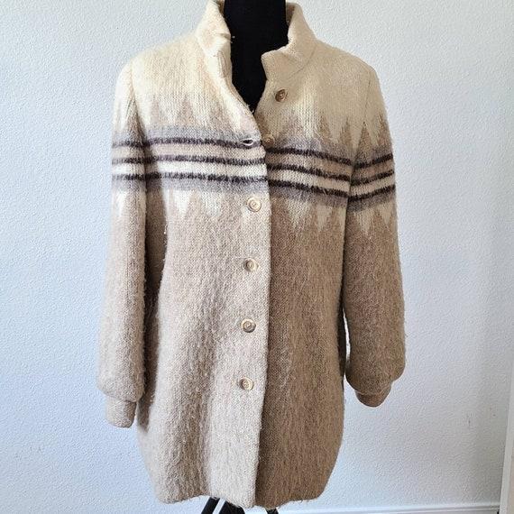 Vintage Icelandic wool coat Hilda Ltd nordic belte