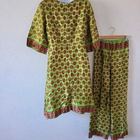 Vintage 50s 60s beach pajamas set summer two piec… - image 2