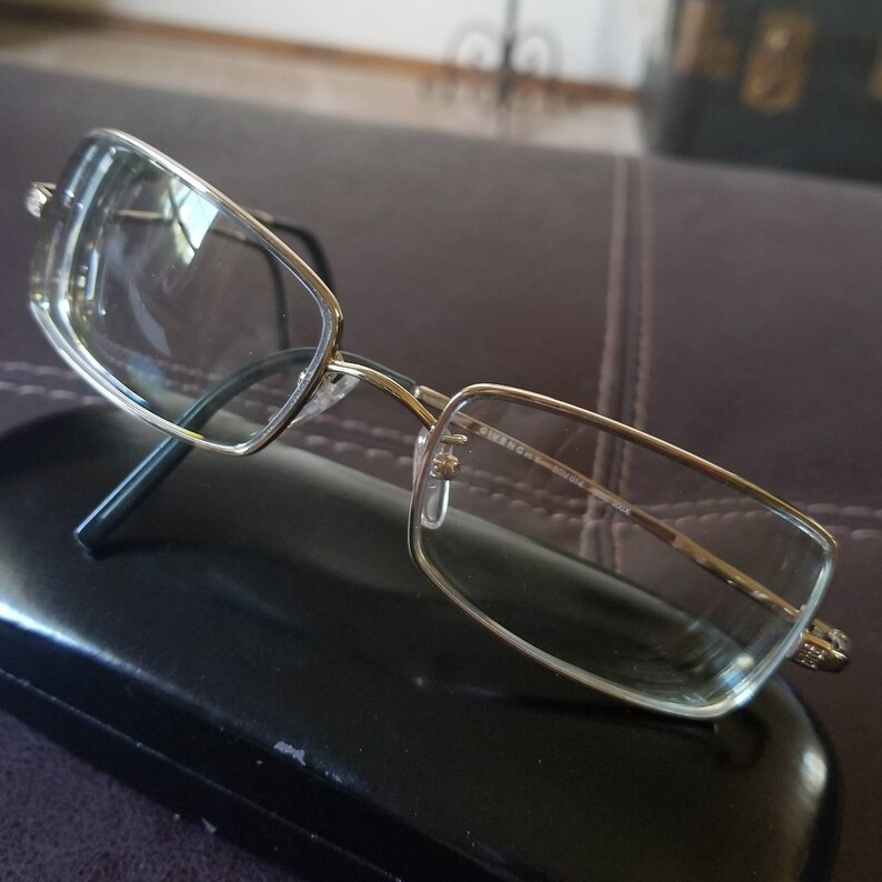 1e938e8db9 Vintage authentic Givenchy eyeglasses gold tone frame designer