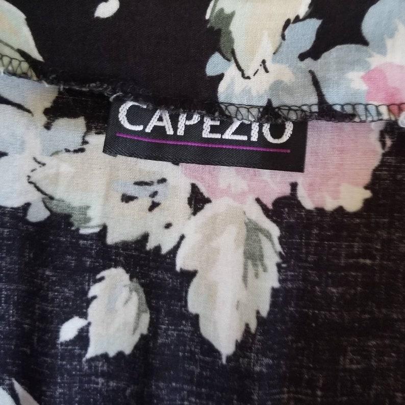 Vintage high waisted floral jumpsuit pantsuit romper capezio cotton jumper elastic waist pants 80s style womens fashion flowers