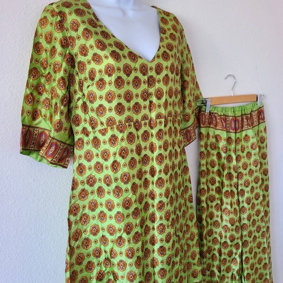 Vintage 50s 60s beach pajamas set summer two piec… - image 3